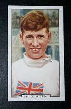 Track Cycling   Dennis Horn    Vintage 1930's Colour Card   # VGC