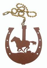 Horse In Horseshoe Fan Pull - Ornament