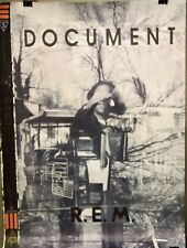 R.E.M. - DOCUMENT Vintage Promo Poster [Large] - 1987 - Near Mint