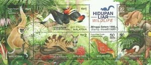 Wildlife 1996 Malaysia Animal Forest Jungle Birds Flora Fauna (miniature) CTO