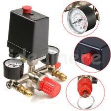 175PSI Air Compressor Pressure Control Switch Valve Manifold Regulator Gauges