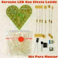 KIT De Electronica Para Montar - Corazon De 22 LED Con Efecto Latido