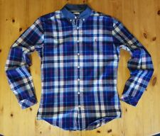 Men's Joules Lambert Navy, Red, Blue & White Check Slim Fit Shirt - Size Small
