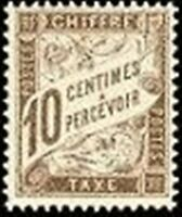 "FRANCE STAMP TIMBRE TAXE N° 29 "" TYPE DUVAL 10c BRUN "" NEUF xx TTB"
