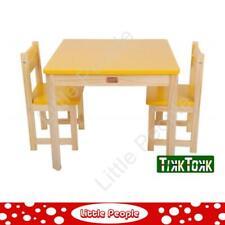 TikkTokk Little BOSS Table & Chairs Set - SQUARE Yellow