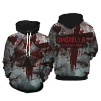 Mens Resident Evil Umbrella Corporation 3D Full Print Hoodie Pullover Sweatshirt
