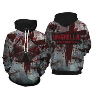 Mens Resident Evil Umbrella Corporation 3D Full Print Hoodie Pullover Sweatshirt