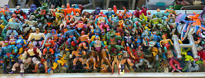 HUGE LOT VINTAGE 1980's HE MAN FIGURES  MASTERS of THE UNIVERSE 100+