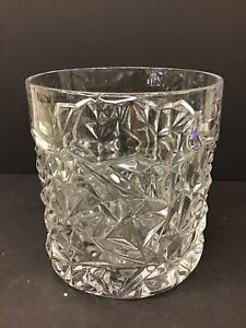 Tiffany & Co Crystal Rock Cut pattern champagne ice bucket