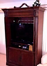 """78"""" Tall Cherry TV Hutch / Cabinet / Console For 39"""" TV   Pick Up Rockford IL"""