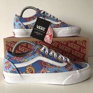 Vans Liberty Old Skool Size 7 Blue Floral Trainers New With OG Box & Tags