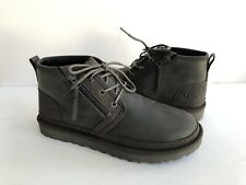 UGG MEN NEUMEL ZIP BLACK OLIVE WATERPROOF LEATHER SHOE US 11 / EU 44.5 / UK 10