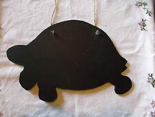 TORTOISE SHAPED chalkboard black board Christmas gift garden nature wildlife b