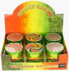 """1.9"""" Aluminum Grinder 3 Piece Tobacco Herb Spice Grinder Swirl  Graphic Design"""
