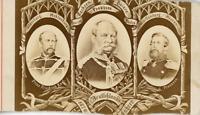 L. Haase, Portraits de Guillaume Ier d'Allemagne, le prince Friedrich et le