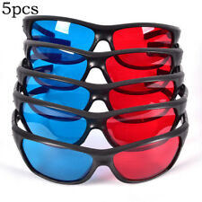 Frame Red Blue 3D Glasses For Dimensional Anaglyph Movie Game DVD BlackPX