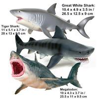 Megalodon Tiger Shark Great White Shark Ocean Animal Figure Collector Toy Gift