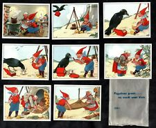 Piggelmee Groeit Dutch Card Set 1950's? Gnome Elf Pixie Crow Story In Orig Pack