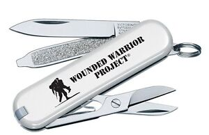 Victorinox Swiss Army White Classic Wounded Warrior Project Logo 55071.US2 NEW
