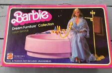 Vintage Barbie Dream Furniture Luxury Bathtub & Accessories 1979 Mattel & Box