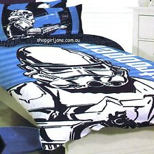 Star Wars - Large Storm Trooper - Single/US Twin Bed Quilt Doona Duvet Cover set