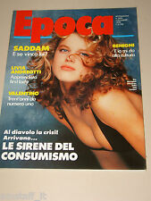 EPOCA=1990/2095=EVA HERZIGOVA COVER MAGAZINE=ROBERTO BENIGNI=VALENTINO MODA=