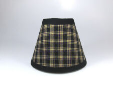 Country Primitive Black Sturbridge Plaid Fabric Chandelier Lampshade Lamp Shade