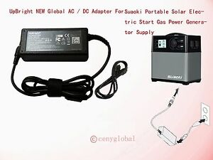 AC Adapter For Suaoki Portable 400Wh Solar Electric Start Gas Generator 14V-40V