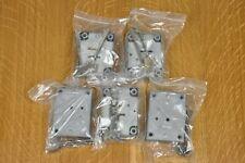 5 x English Made Door Locks, Each With Two Keys, Unused