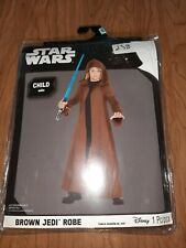 C5 Disney Star Wars Child NEW Brown Jedi Robe Costume Up to Size 10 Halloween