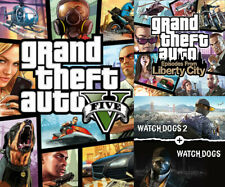Grand Theft Auto 5 V +4 BONUS GAMES Steam OFFLINE - READ DESCRIPTION