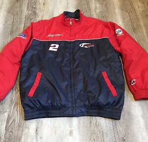 Rusty Wallace Chase Authentics Coat NASCAR #2 Miller Lite Men's Size Large Red