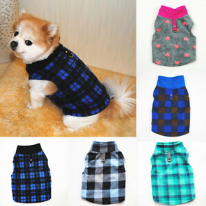 Pet Dog Warm Fleece Sweater Harness Vest Shirt Puppy Jumper Coat Jacket Apparel