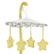 Sweet Jojo Designs Musical Mobile for Yellow and Gray Baby Crib Chevron Bedding