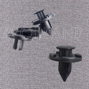 25 x Plastic Rivets Fastener Push Clips Black For Nissan 350Z INFINITI G35 FX35