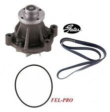 GATES Engine Water Pump & Belt & Gasket For 1999-2001 FORD E-350 SUPER DUTY 6.8L