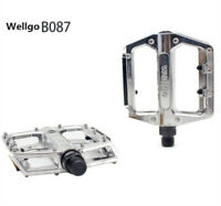 "Wellgo B087 Alloy Pedals Silver MTB BMX Mountain Bike Pedals 9/16"" Cycle Durable"
