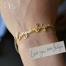 Personalized Signature Bracelet- Custom Handwriting Bracelet- Signature Bracelet