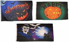 3x5 Happy Halloween 3 Pack Flag Wholesale Set #82 Combo 3'x5' Banner Grommets