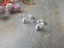 Handmade Sterling Silver Bumble Bee Stud Earrings