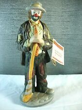 "The Emmett Kelly Jr. Collection by Flambro SWEEPING UP Clown 1984 8"" tall"