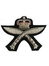 Royal Gurkha Rifles Military Blazer Badge Wire Bullion