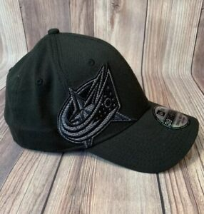 Columbus Blue Jackets New Era NHL Black Hat Fitted Small Medium Embroidered New