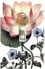 Vintage Lotus Flower Illustration Single Switch Plate *Free Shipping*