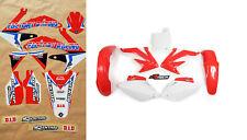 New CRF 450 R 08 2008 FLU PTS4 Graphics Sticker Plastic Kit Motocross Plastics