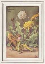 CICELY MARY BARKER c1930 THE DANDELION FAIRY Painting Vintage Art Book Print