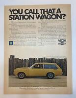 1971 Chevrolet Vega Kammback GT Station Wagon Print Ad Chevy Original Vintage