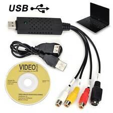 USB VHS Zu DVD Audio Video Converter Capture Full Scart Kit mit führt UK