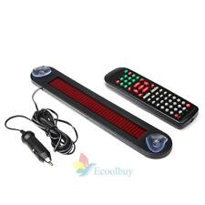 Red 12V Car LED Programmable Message Sign Scrolling Display Board with Remote US