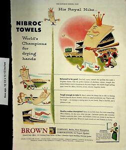 1952 Nibroc Towels Brown Co Vintage Print Ad 7185